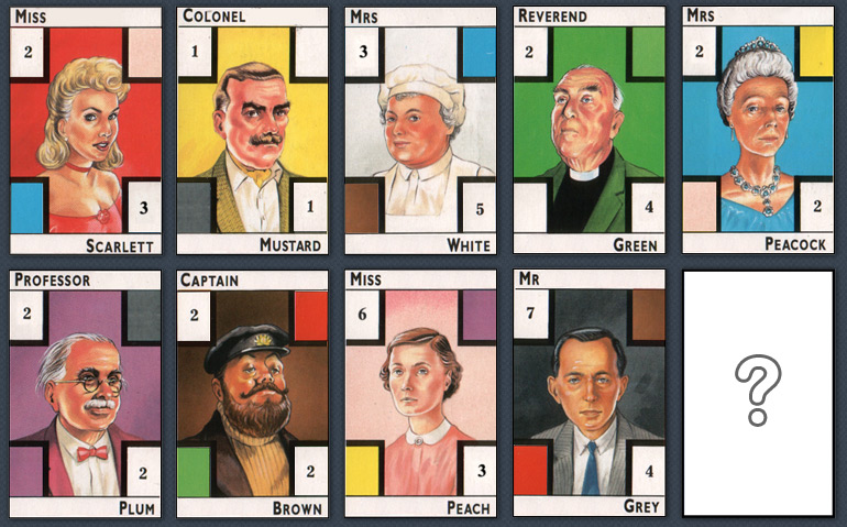 cluedo players